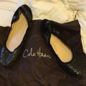 Lk New Cole Haan Glitter Ballet Flats Sz 10 NARROW